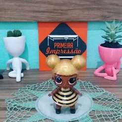 lol5.jpg Download free STL file Queen Bee - LOL  • 3D printing model, Primeira_Impressao