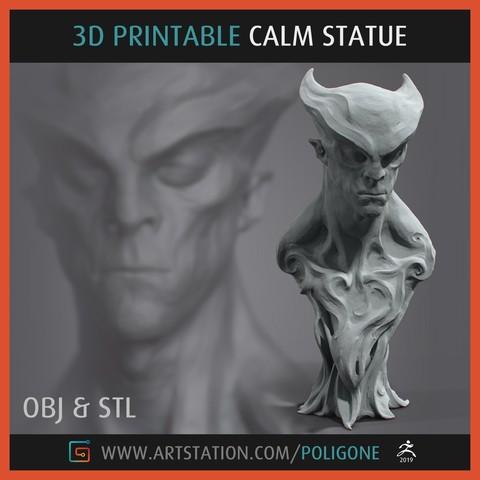 Download 3D printing models CALM Statue - 3D Printable, jinsk8r