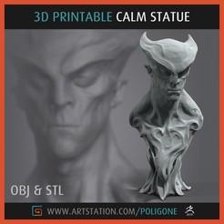 Descargar modelos 3D para imprimir CALMA Estatua - Imprimible en 3D, jinsk8r