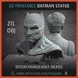 Imprimir en 3D Estatua coleccionable de Batman - 3D imprimible, jinsk8r