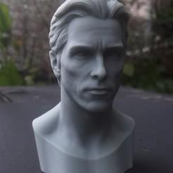 Télécharger fichier imprimante 3D Tête Christian Bale Likeness, jinsk8r