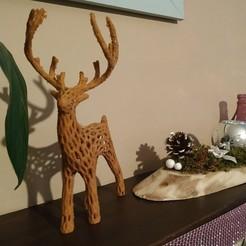 Download free 3D print files Voronoi deer, sandcasanave
