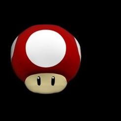 Télécharger objet 3D champignons mario bros, Mrplrhernandez