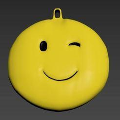 2.JPG Download OBJ file Keyring Smile • 3D printing design, CristinaUY