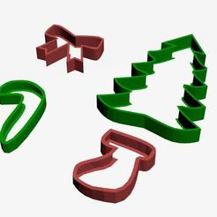 Download 3D printer model Christmas cutters, CristinaUY