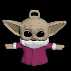 Descargar archivos 3D llavero baby yoda rosa, Mrplrhernandez