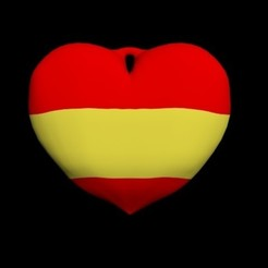 spain.jpg Download OBJ file Keyring heart • 3D printable template, CristinaUY