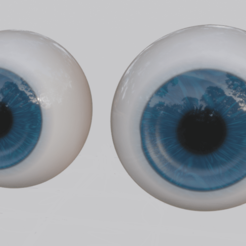 1.png Download OBJ file Ojos azules • 3D printable model, CristinaUY