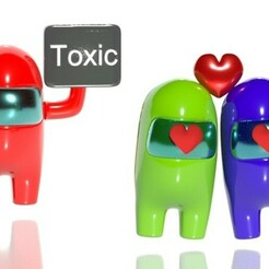 toxic.jpg Download STL file Among us san valentin- amor toxico • 3D print object, CristinaUY