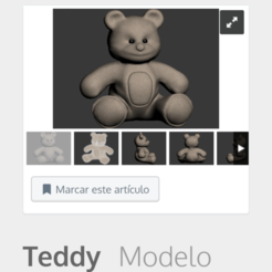 Download 3D printing templates Teddy bear, Mrplrhernandez