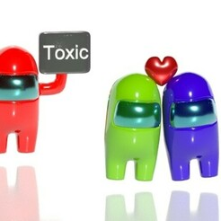 toxic.jpg Télécharger fichier OBJ Parmi nous san valentin- amor toxico • Modèle à imprimer en 3D, CristinaUY