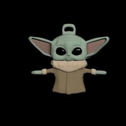 Imprimir en 3D Baby yoda llavero, Mrplrhernandez