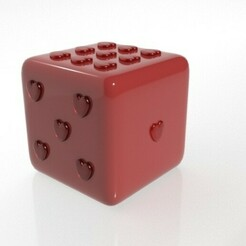 dado.jpg Download STL file Love Dice - St. Valentine's Day • 3D printable model, CristinaUY