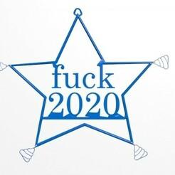 fuck1.jpg Download STL file fuck 2020 • 3D printable template, CristinaUY