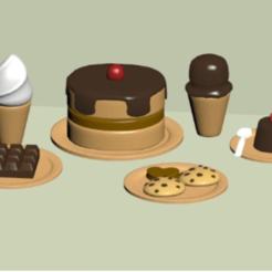 Télécharger fichier impression 3D Desserts avec couverts, mrplrhernandez
