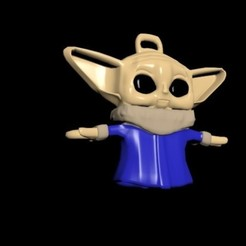 2.jpg Télécharger fichier STL Bébé yoda bleu • Modèle pour imprimante 3D, CristinaUY