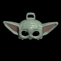 Descargar diseños 3D Llavero cabeza de baby yoda, Mrplrhernandez