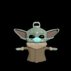 Download STL Baby yoda with mask, CristinaUY