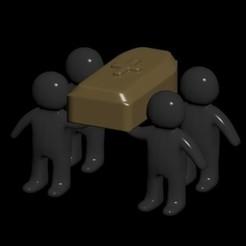 Download STL Meme coffin humanitos version, CristinaUY