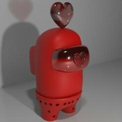 activeshade.jpg Télécharger fichier STL Parmi nous- San valentin- infusor de te • Modèle à imprimer en 3D, CristinaUY
