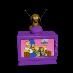 Descargar modelos 3D para imprimir Television de los simpson, CristinaUY