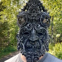 20200816_150812.jpg Download STL file Olmec Mask • Model to 3D print, trajan1990