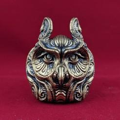Download 3D printer designs Ornate owl, trajan1990