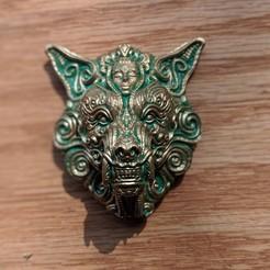00100dPORTRAIT_00100_BURST20190601101955792_COVER.jpg Télécharger fichier STL Ornate wolf • Modèle pour imprimante 3D, trajan1990