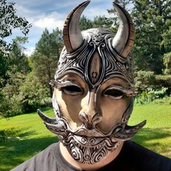 20200810_124440 (1).jpg Download STL file female oni mask • 3D printer object, trajan1990