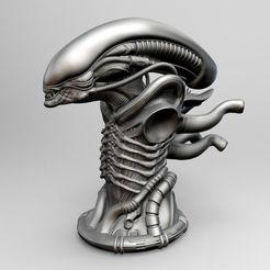 Download 3D printing models Original Alien Xenomorph Bust, cristiann_88