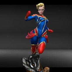 Download 3D printer templates Captain Marvel Statue, cristiann_88