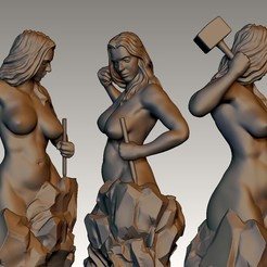 asdasd.jpg Download STL file Self sculpting woman • Design to 3D print, cristiann_88