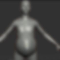 Télécharger fichier 3D 3D Mpreg/Pregnant Androgynous Model, BP4320