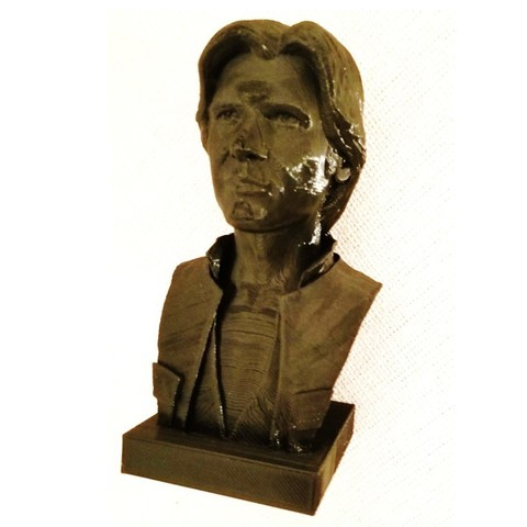Free 3D printer model Han Solo Bust, irarocketscientist
