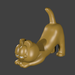 Download 3D printing templates Garfield Cell Phone Holder, Talion