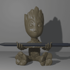 Impresiones 3D Groot Porta Lapiz, Talion