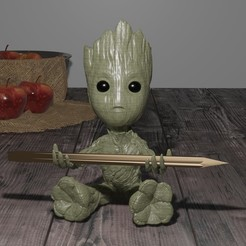 Download 3D printer files Groot Pencil Holder, Talion