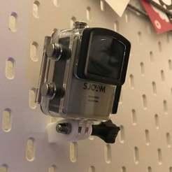 IMG_2555.JPG Télécharger fichier STL gratuit IKEA Skadis - Monture GoPro / Monture Action Cam • Objet à imprimer en 3D, jnfink