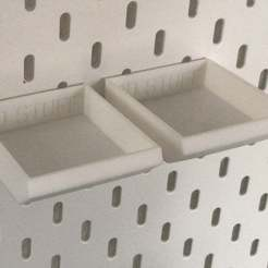 IMG_2534.JPG Download free STL file IKEA Skadis - Part Trays- Small • 3D printing model, jnfink