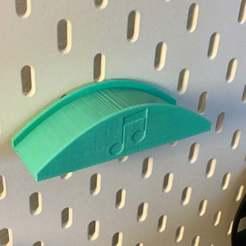IMG_2637.JPG Télécharger fichier STL gratuit IKEA Skadis - Support pour casque d'écoute • Modèle imprimable en 3D, jnfink
