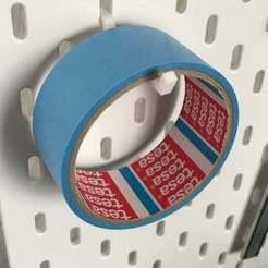 IMG_2537.JPG Télécharger fichier STL gratuit IKEA Skadis - Porte-bande • Design à imprimer en 3D, jnfink