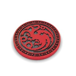 Download 3D printer model Currency Throne Game, Targaryen House, conferal8