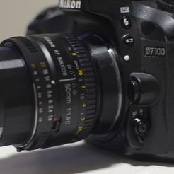 P1130224.JPG Télécharger fichier STL Adaptateur 52 mm pour montage Nikon F pour la macrophotographie (modifié pour la prise de vue) • Design pour imprimante 3D, tarekx