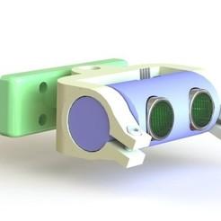 Télécharger fichier STL HC -SR04 Boîtier entièrement articulé - Montage de capteur à ultrasons, tarekx