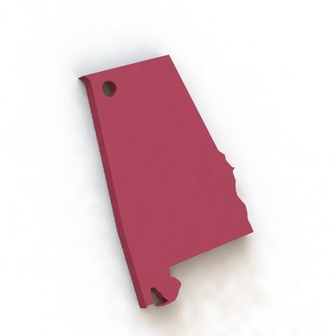 Free STL files Alabama Keychain, tarekx