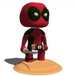 Download free 3D printer model DEADPOOL FIGURINE OR LLAVRO, alonsoro767