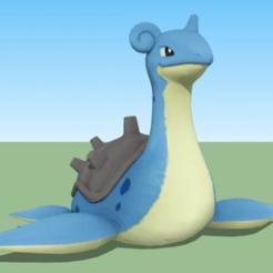 Impresiones 3D gratis Figurilla pokemon lapras , alonsoro767