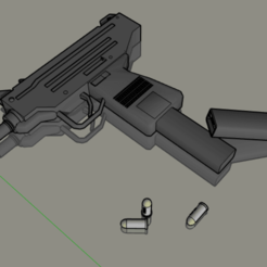 Download free 3D printer designs UZI MACHINE GUN SAME SIZE AND SHAPE AS THE REAL THING, alonsoro767