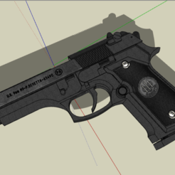 Download free 3D printer templates Actual size gun, alonsoro767