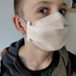 Descargar archivos 3D gratis Clip simple para la máscara facial (protección contra el virus Covid-19 de la Corona), paveltajdus